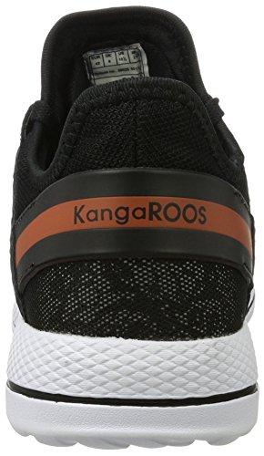 KangaROOS Schwarz Mujer 300 Grey Tobillo bajo Black Vapor W wvapT