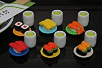 IWAKO Japanese Erasers / Conveyor Belt Sushi 6pcs
