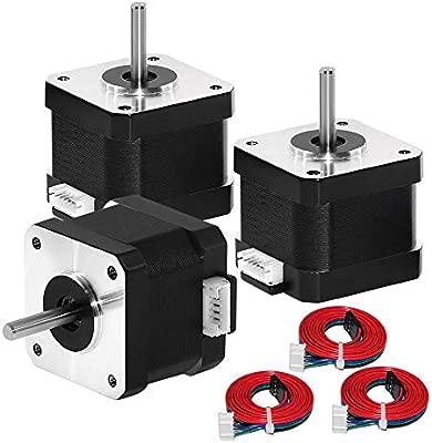 HUKOER Motor paso a paso 42, motores de impresora 3D, motor paso a paso Nema 17 para impresora 3D DIY CNC Robot (3PC)