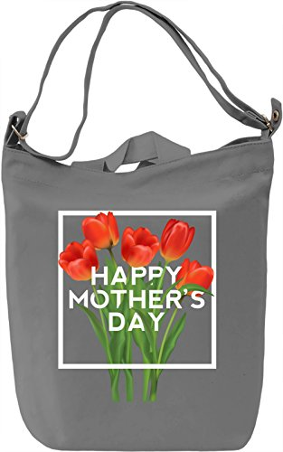 Happy mother's day Borsa Giornaliera Canvas Canvas Day Bag  100% Premium Cotton Canvas  DTG Printing 
