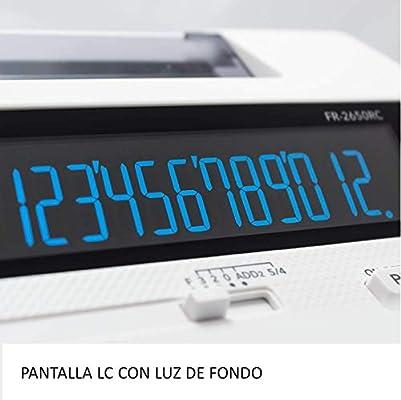 Casio FR-2650RC - Calculadora impresora, 12 dígitos, 6.5 x 19.5 x ...