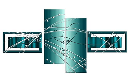 wall art in teal colors - 4
