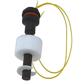 URBEST negro PP Sensor de nivel de agua Líquido Controlador bola interruptor de flotador para piscina del acuario peces tanque de agua 100 V DC 2PCS: ...