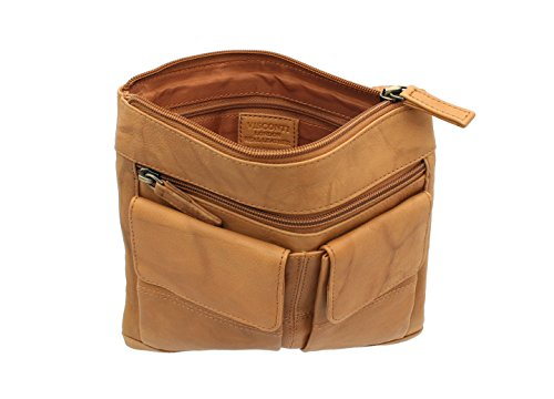 Handbag Visconti Leather 18608A Sand Mud Handbag Style Leather Visconti WH6SRZq4