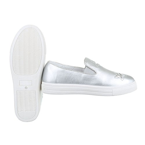F05 Sport De Femmes Chaussures Basses Loisirs Argent design 2 Modernes Italien U8RSqWSw