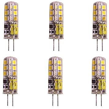WeiXuan 6pcs 2W 160lm G4 LED Doppel Pin Leuchten T 24 LED