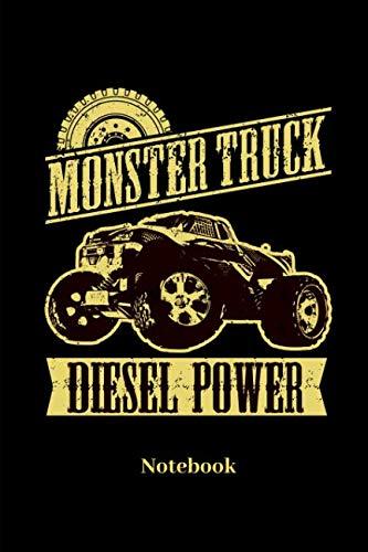 Monster Truck Diesel Power Notebook: Liniertes Notizbuch für Auto, LKW, Motorsport und Monster Truck Fans - Notizheft Klatte für Männer, Frauen und Kinder (German Edition) (Diesel Männer)