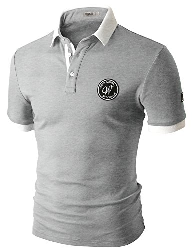 Doublju Mens Long Sleeve Sriracha With Pocket GRAYWHITE T-shirts,M