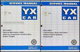 2005 Cadillac XLR Repair Shop Manual Original 2 Volume Set