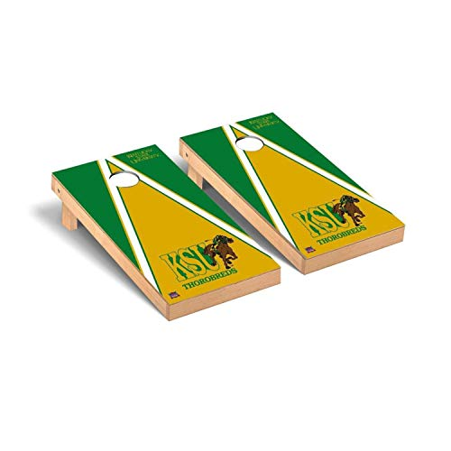 Victory Tailgate Regulation Collegiate NCAA Triangle Series Cornhole Board Set - 2 Boards, 8 Bags - Kentucky State Thorobreds