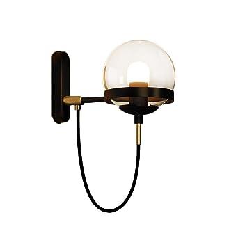 Vintage Industriell Wandleuchte Wandlampe Runden Glas Lampenschirm ...