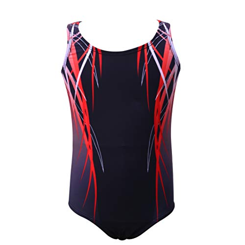 Gymnastics Leotards for Child boys One-piece Christmas Gift Red Dancing Athletic Outfit 9Y
