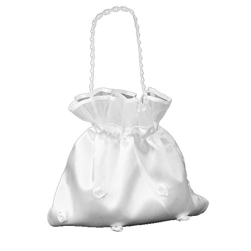 ULTNICE Satin Money Bag Bridal Wedding Dolly Bag Party Handbag (Satin Pearl Money Bag)