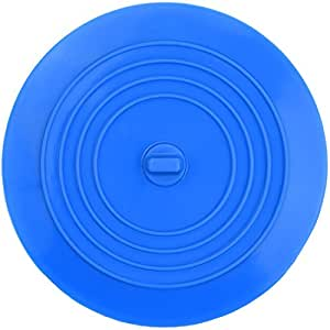 Wild Tribe 2 in 1 Tub Stopper & Drain Plug - Silicone Potable Kitchen Drain Hair Stopper Bath Catcher Sink Stopper Cover Tool(Blue)