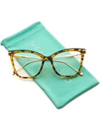 New Elegant Oversized Clear Cat Eye Non-Prescription Glasses
