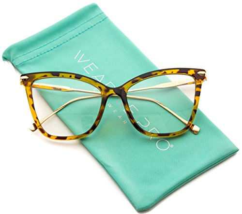 756d93b393 WearMe Pro - New Elegant Oversized Clear Cat Eye Non-Prescription Glasses - Buy  Online in UAE.