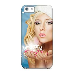 fenglinlinBKS47mUJz Cases Covers Protector For Iphone 5c Girl Happy Holidays New Year Merry Christmas Cases