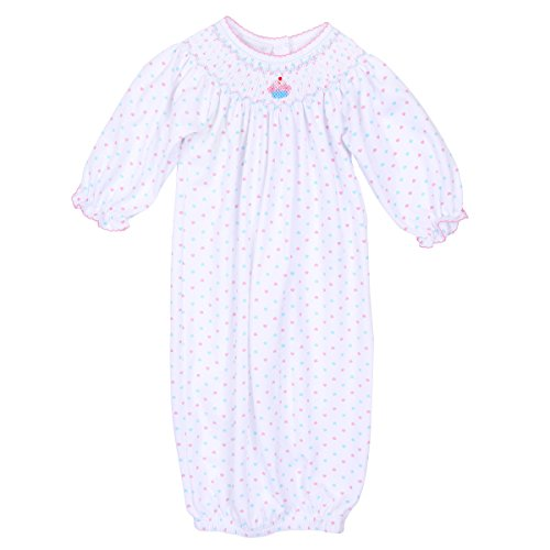 Magnolia Baby Baby Girl Cute Cupcake Bishop Gown Pink Small