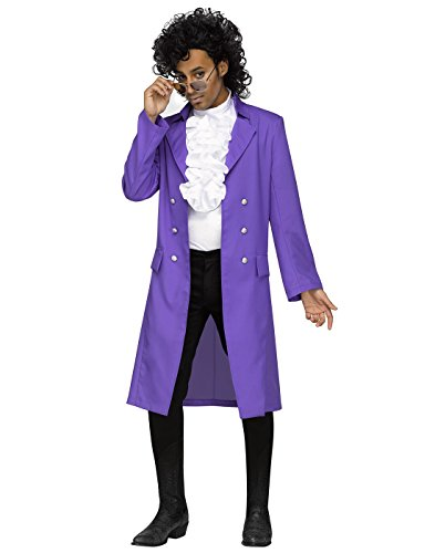 80s Movie Halloween Costumes (Purple Pain 80s Pop Star Adult Costume)