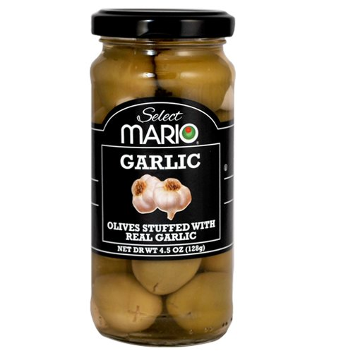 - Mario Camacho Foods Green Olives, Garlic Stuffed, 4.5 Fluid Ounce