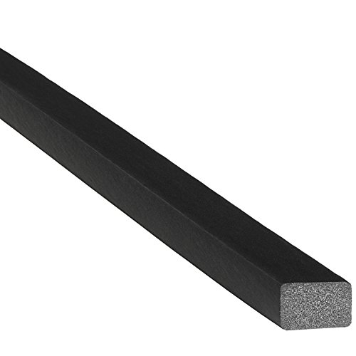 Doors High Tack - Trim-Lok Solid Rectangle Rubber Seal - EPDM Foam Rubber Seal with High Tack (HT) Adhesive - Door & Window Weather Seal for Your Home, Car, Truck, RV or Boat - .5