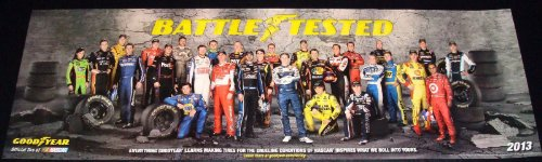 Goodyear Nascar 2013 Poster Original Limited Edition Rare