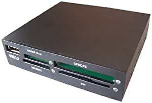 Gembird FDI2-ALLIN1-B USB 2.0 internal CF/MD/SM/MS/SD/MMC/XD card reader/writer black USB 2.0 - Lector (USB 2.0, 11,2 kg, Windows ME/XP, Mac OS 10.X)