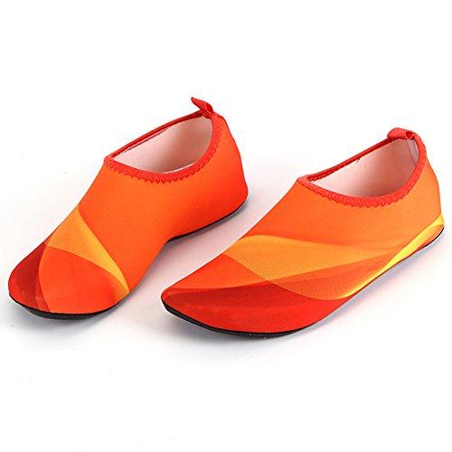 Barerun Barfuß Quick-Dry Frauen Männer Wasser Schuhe Haut Aqua Socken für Schwimmen Beach Pool Surf Yoga Sport Übung Farbverlauf Orange