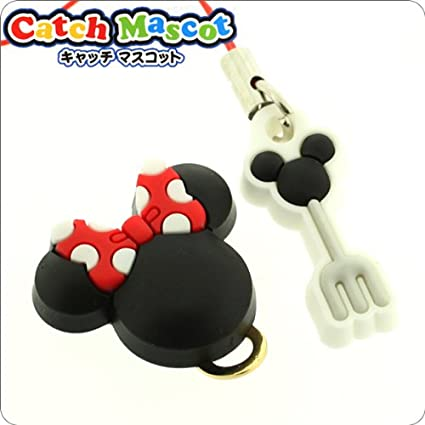 Disney Strap Charm Button for iPhone/Smartphone (Minnie Mouse ...