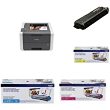 Brother HL-3140CW Digital Colour Laser Printer with TN221 Black + Colour Toners (Yellow, Magenta, Cyan)