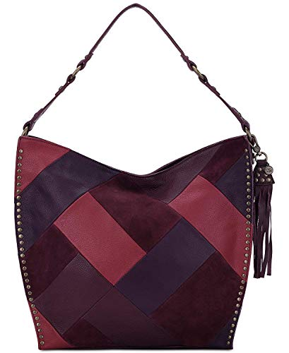 - The Sak Silverlake Patchwork Leather Hobo Shoulder Bag in Cabernet (Purple)