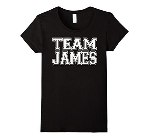 James Team Color (Womens TEAM JAMES Personalized Family Jersey T-Shirt Medium Black)