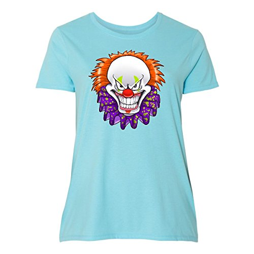 inktastic - Scary Clown Women's Plus Size T-Shirt