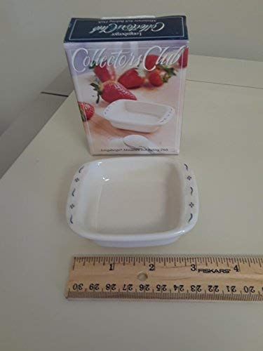 Longaberger Collector Club Miniature 8 x 8 Baking Dish Pottery New in Box USA -