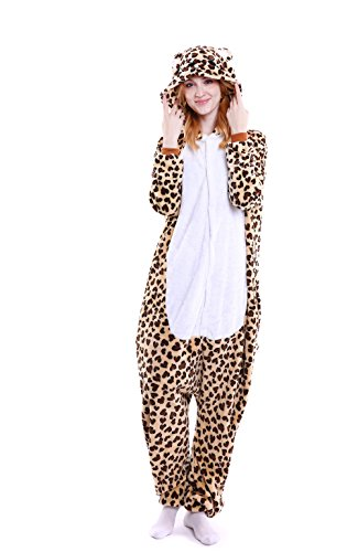 Leopard Costumes For Adults (Yutown Unisex-adult Animal Onesie Pajamas Kigurumi Cosplay Costume Leopard Bear L)