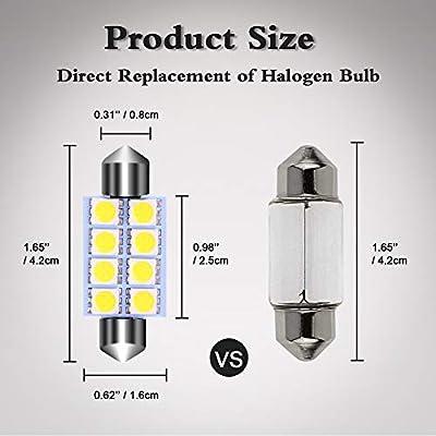 578 LED Bulb, LEDKINGDOMUS 20pcs 42mm 1.65