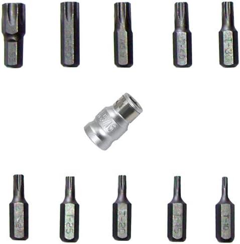 """für Torx Bit T55 - T-Profil Antrieb Außensechskant 10 mm 3//8/"""""""
