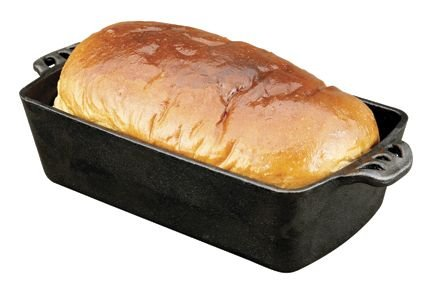Camp Chef Home Seasoned Cast Iron Bread Pan (Baking A Loaf Of Bread In The Oven)