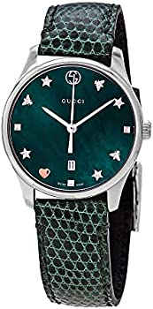 Gucci G-Timeless Green Mother of Pearl Dial Ladies Watch