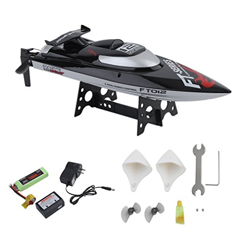Blackpoolfa 2nd Gen. Brushless Racing Boat | Upgrade FT012 2.4G 4CH Remote Control High-Speed RC Boat | Automatically Flip, Reach 28mph, 4 Channel | Professional Series, Great Gift