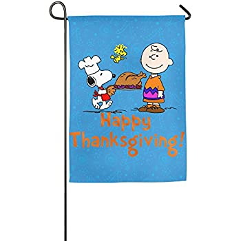Garden Flags Charlie Brown Snoopy Woodstock Thanksgiving Day