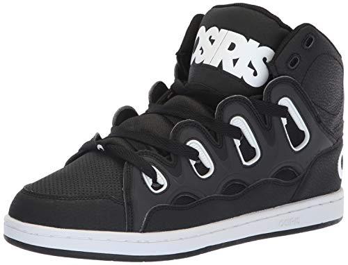 Osiris Men's D3H Skate Shoe, White/Black, 7.5 M US (Shoes Black Osiris High Top)