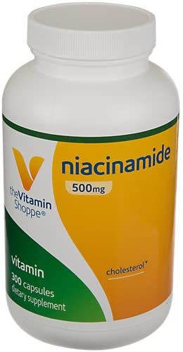 The Vitamin Shoppe Niacinamide 500MG, Supports Cholesterol Levels Already Within The Normal Range, Once Daily 300 Capsules