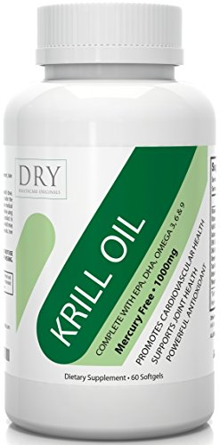 #1 Premium Krill Oil 1000mg - Pure EPA DHA Supplement - Omega 3 6 9 & Astaxanthin Antioxidant - Boost Heart Health, Joint Care, Regulate Blood Pressure & Wellbeing - Lifetime Guarantee by DRY Healthcare Originals