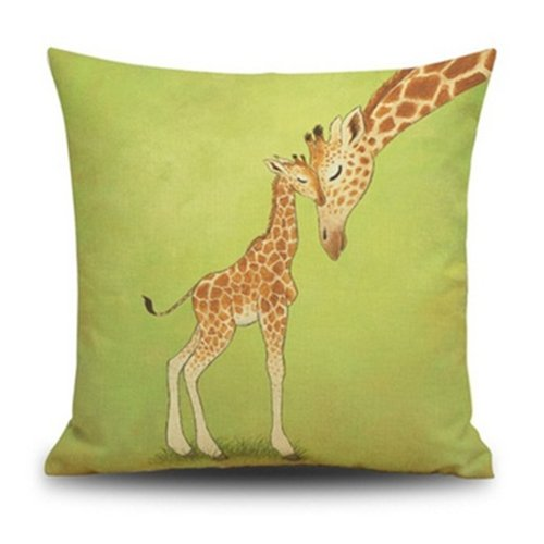 Giraffe Cushion Amazoncouk Simple Giraffe Print Body Pillow Cover