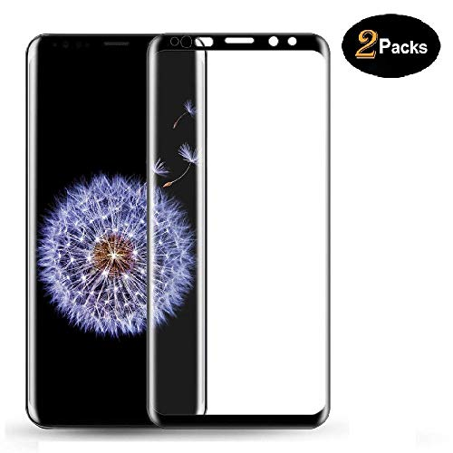 [2 Pack] Galaxy S9 Plus Screen Protector, Full Coverage HD Clear 3D Tempered Glass,[Easy Installation][High Definition][Anti-Scratch][9H Hardness] Screen Protector Compatible Samsung Galaxy S9 Plus