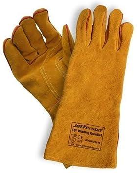 Jefferson 40,64 cm soldadura guantes Kevlar cosido: Amazon.es: Bricolaje y herramientas