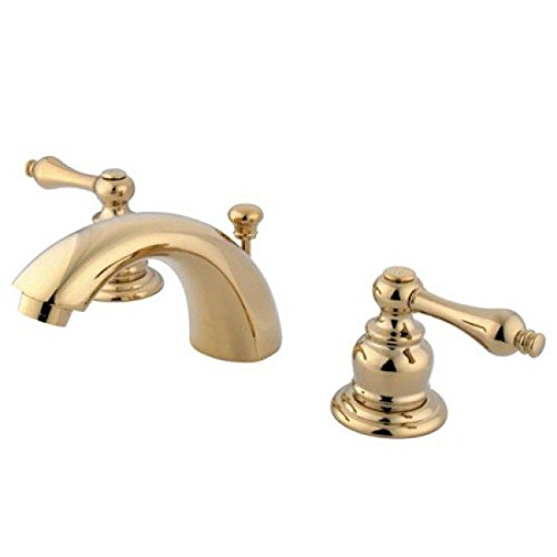 "663370000065 - Elements of Design EB942AL Elizabeth Two Handle 4"" to 8"" Mini Widespread Lavatory Faucet with Pop-up, Polished Brass carousel main 0"
