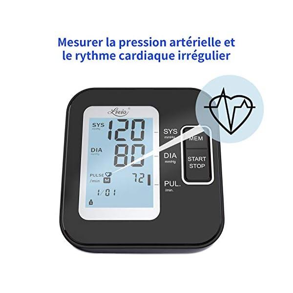 Tensiomètre Bras Electronique – Tensiomètre Intelligent Professionnel, Détection de Pulsations Cardiaques Irrégulières…