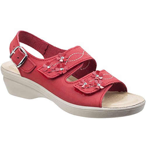 with Caged Toe Opening Leather Upper Foster Soft Two Sandal Inner And Touch Three Fas Touch Luxuriously Sandal Fleet Open Points with Soft with Womens Adjustment Fully OwX0Iqx